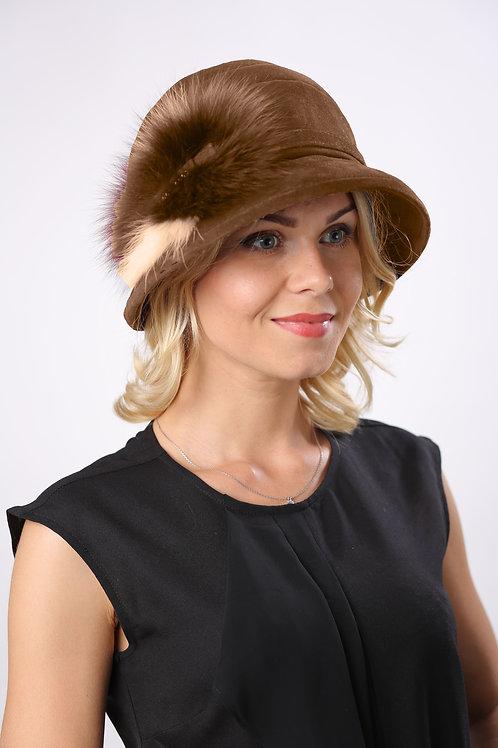 Шляпа женская ВИЛЕНА КМ041 св.коричневый