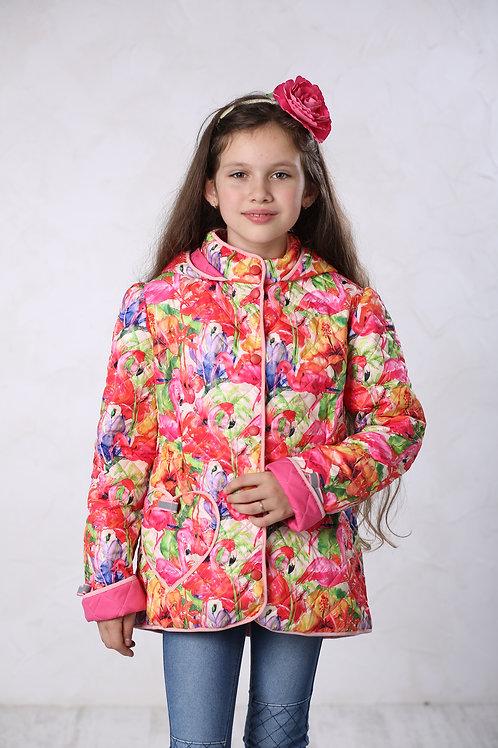 Плащ детский для девочки М-441 фламинго