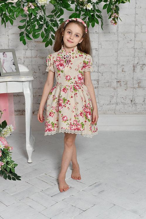 платье для девочки Л19-1 Розали розочки