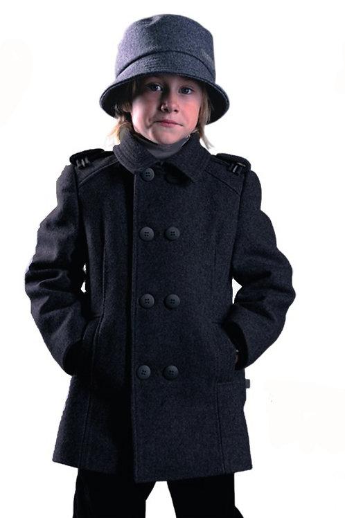 """Пальто  для мальчика М125 """"Лицей"""" черный"""