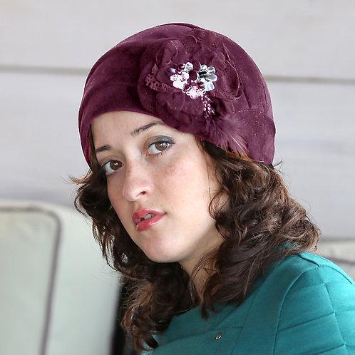 Шляпа женская РЕБЕККА  К1306 бордовый