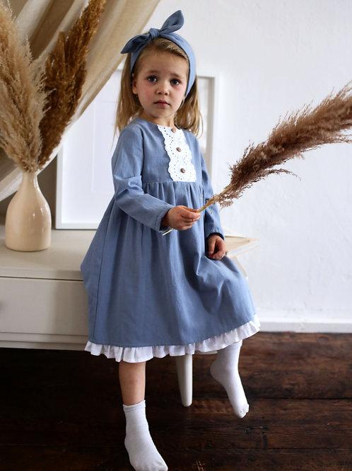 Платье  МТ20-3 голубая фланель