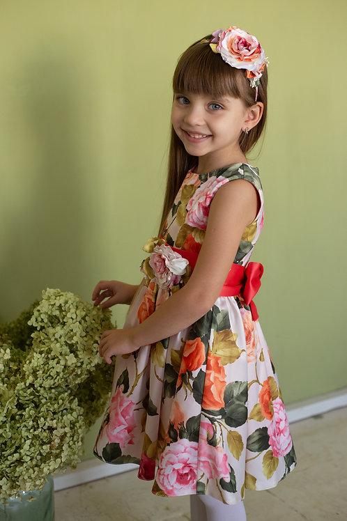 Платье для девочки Милана М-257 винтажные розы