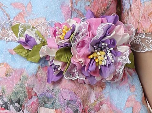 Брошь Адель цветы