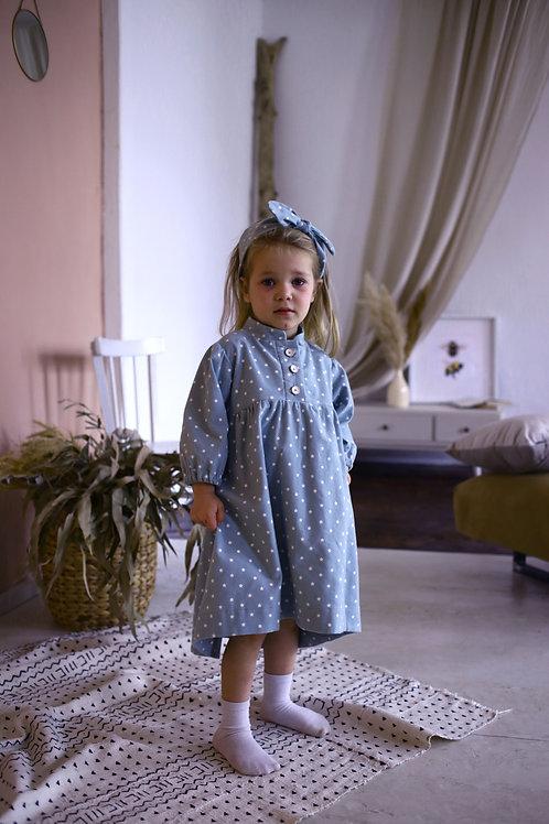 Платье  МТ20-7 джинс звездочки
