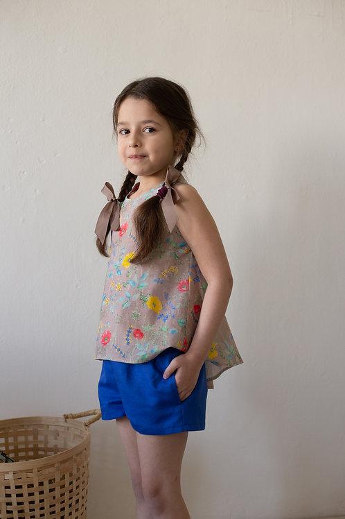 Л 21-9 шорты для девочки василек