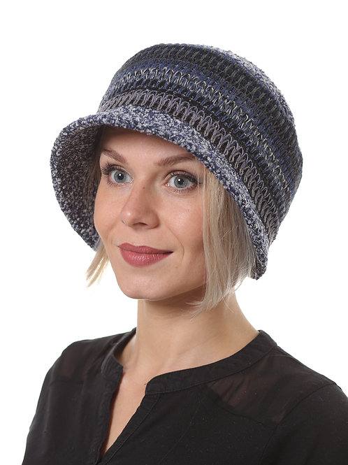 Шляпа женская МОНИКА  Д1903 синий меланж