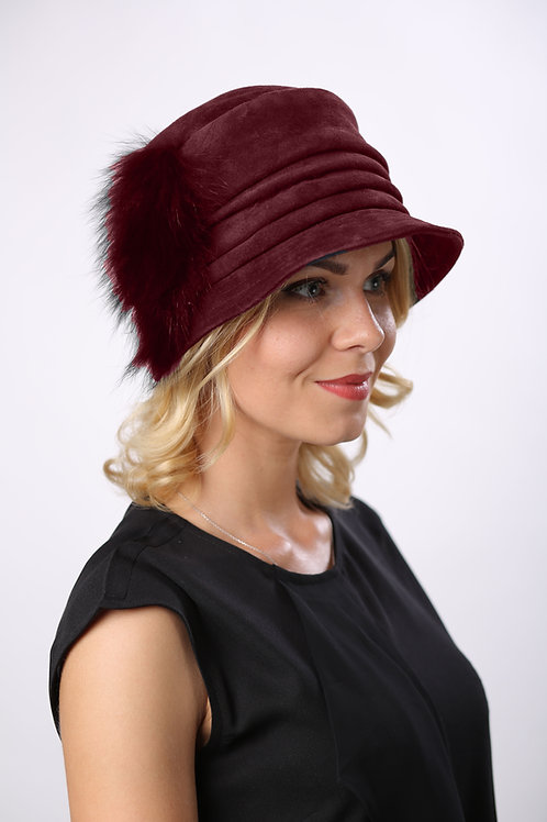 Шляпа женская КАСКАД КМ1603 бордовый