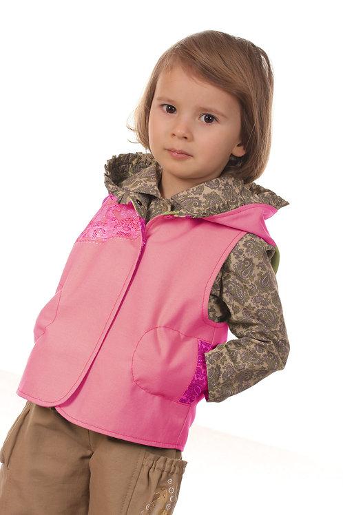 Жилет М168 для девочки розовый