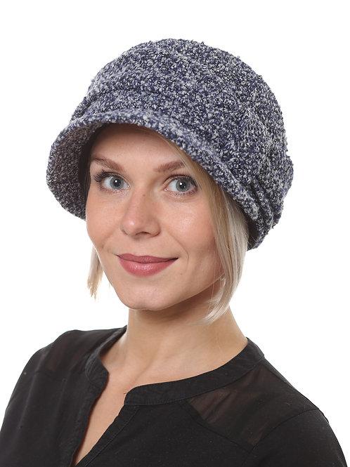 Шляпа женская ЛИНДА  Д1905 синий меланж гусиная лапка
