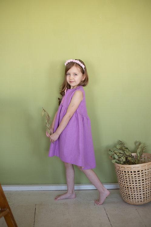 """платье  для девочки Л20-5 """"Санни""""лаванда"""