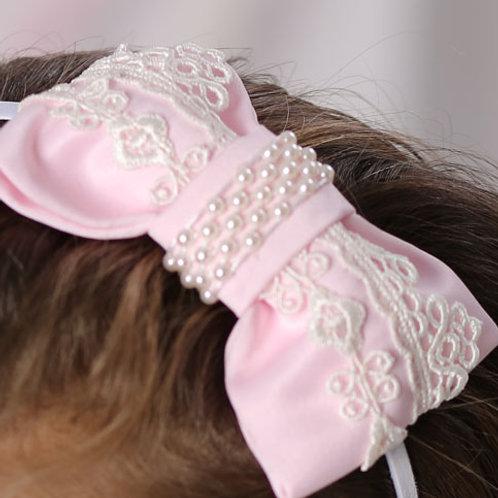 резинка для волос Бантик розовый