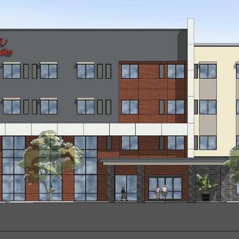 Hilton Hampton Inn Front Facade
