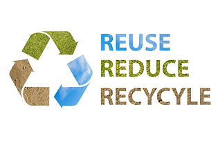 Recycle Logo with picture of land grass