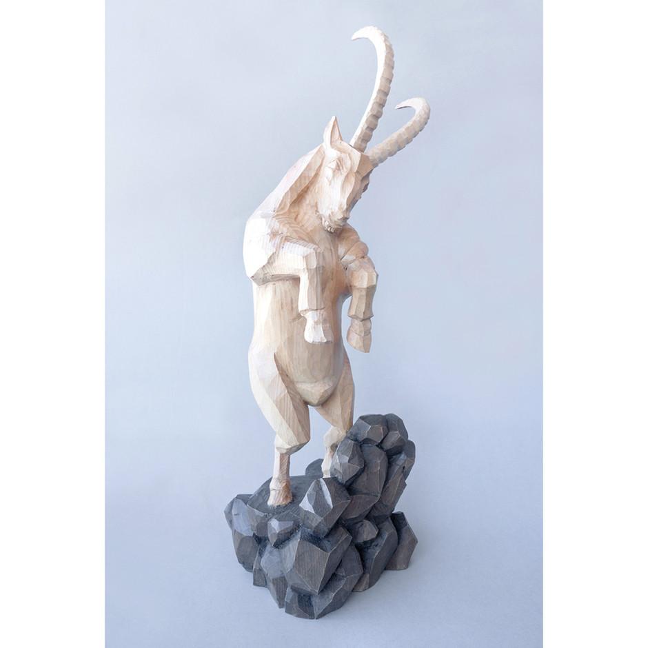 Zirbenholz – Acrylfarbe 48 x 14 cm