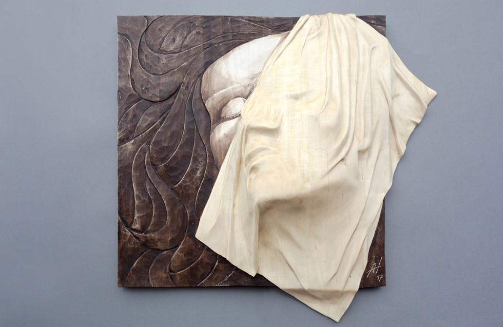 Lindenholz – Beize 50 x 50 cm