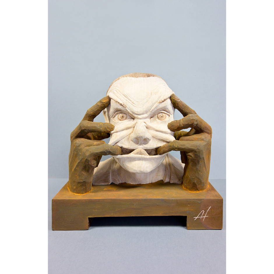 Lindenholz – Rost-Patina 30 x 32 cm