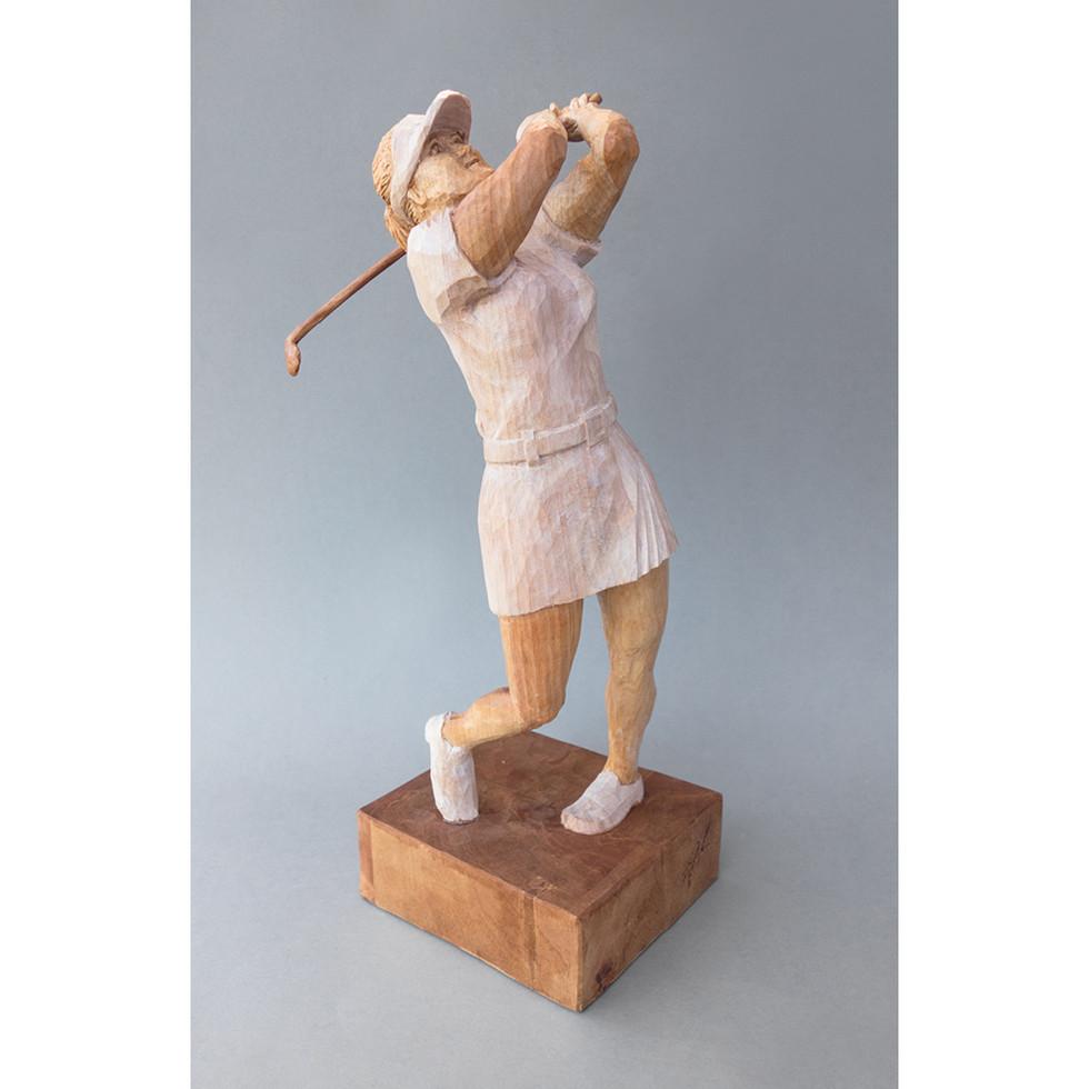 Birnenholz – Acrylfarbe 34 cm