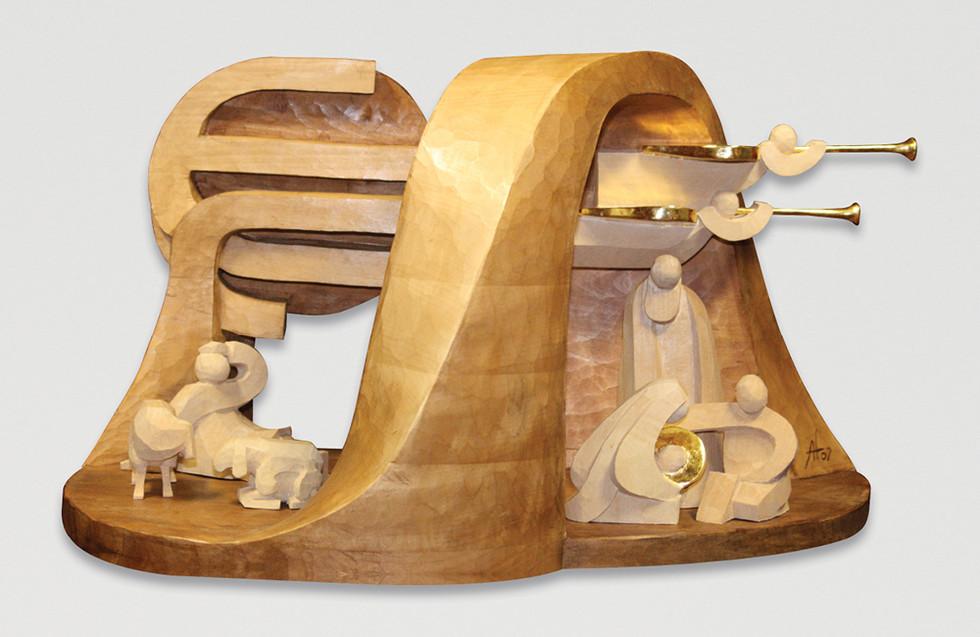 Lindenholz – Beize, polimentvergoldet 53 x 32 cm