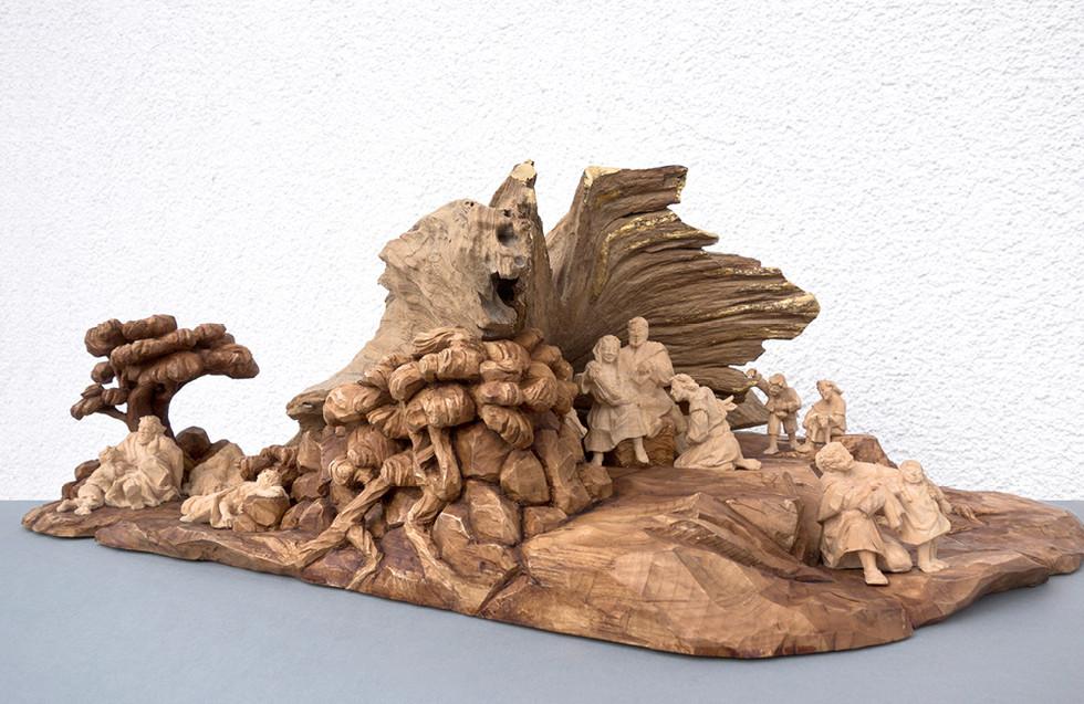 Wurzel – Lindenholz 60 x 38 cm 10 cm (Figuren)