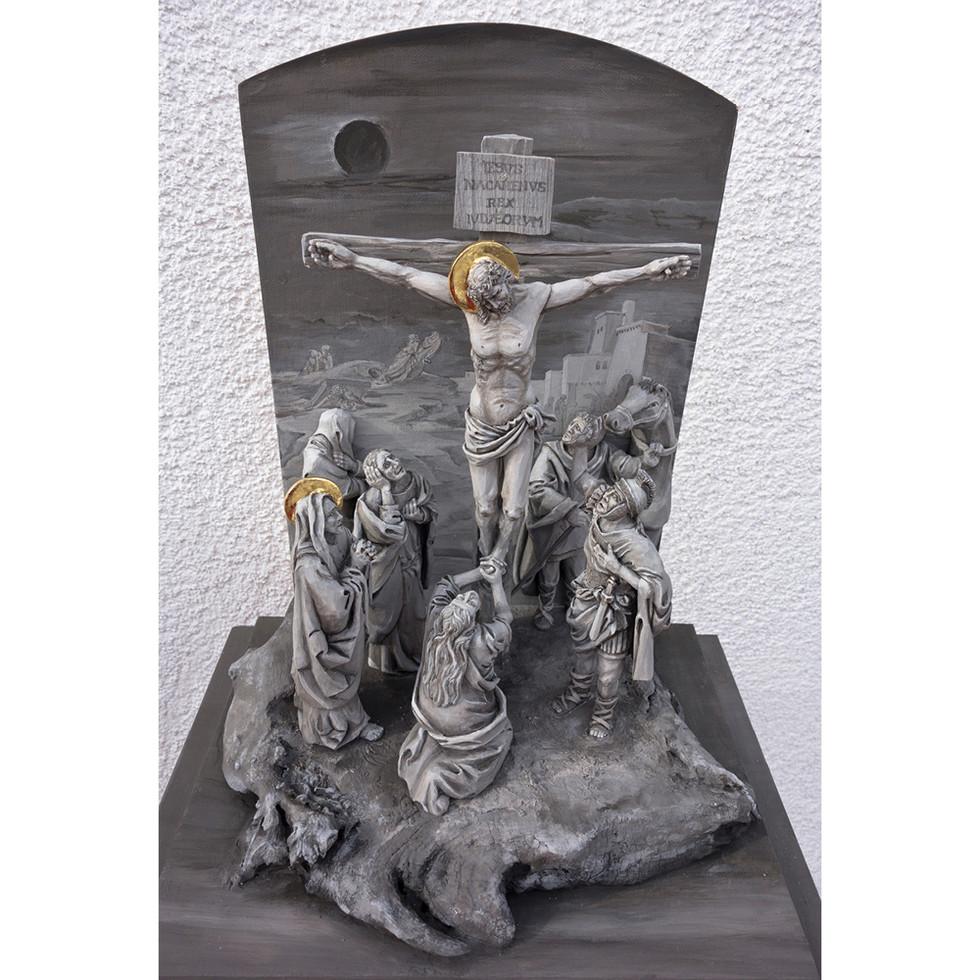 Zirbenholz (Figuren) – Acrylfarbe (Fassung) 15 cm