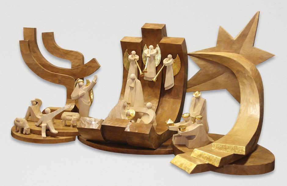 Lindenholz – Beize, polimentvergoldet 100 x 40 cm