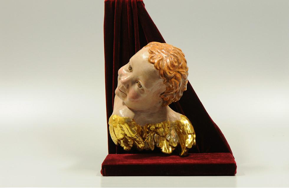 Lindenholz – Acrylfarbe, polimentvergoldet 25 x 20 cm