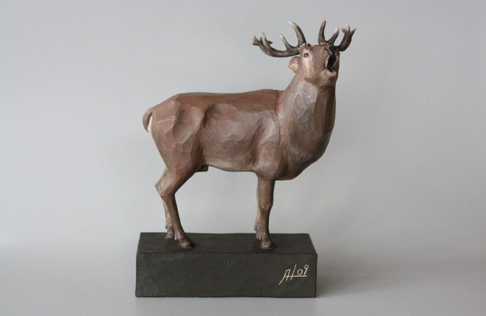 Zirbenholz – Acrylfarbe 33 cm