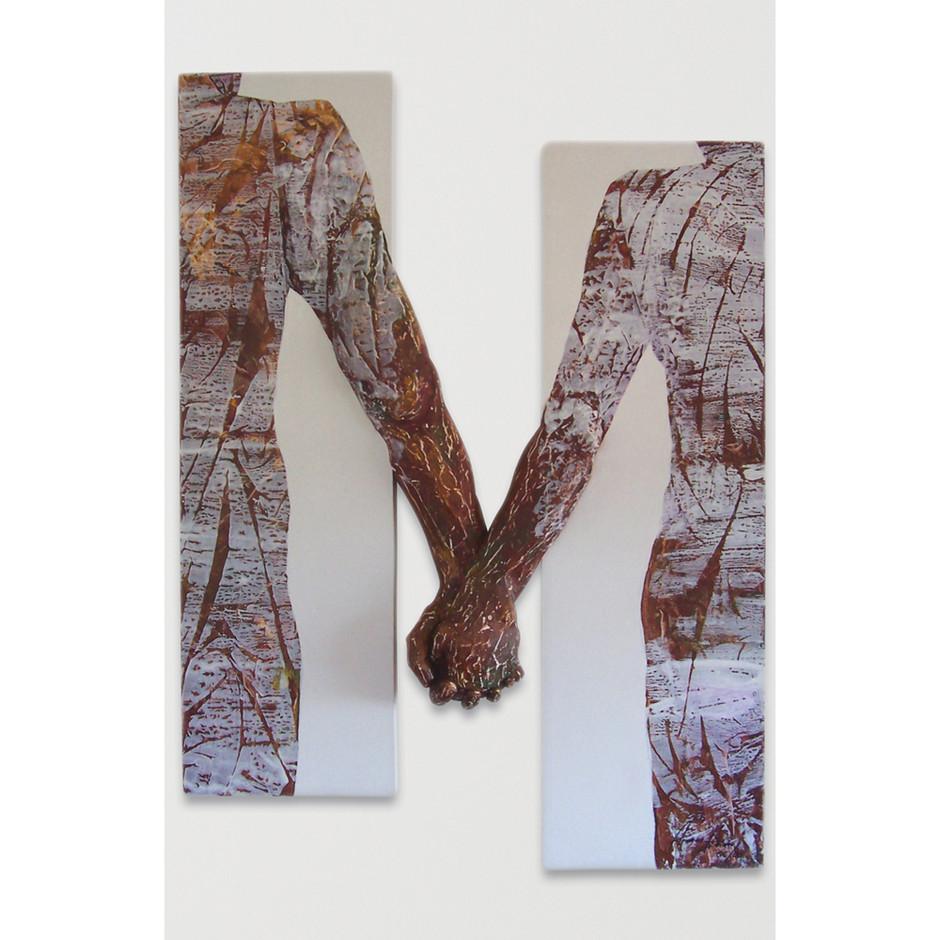 Acrylmalerei – Leinwand – Zirbenholz 120 x 80 cm
