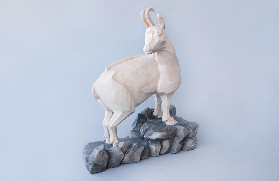 Zirbenholz – Acrylfarbe 33 x 27 cm
