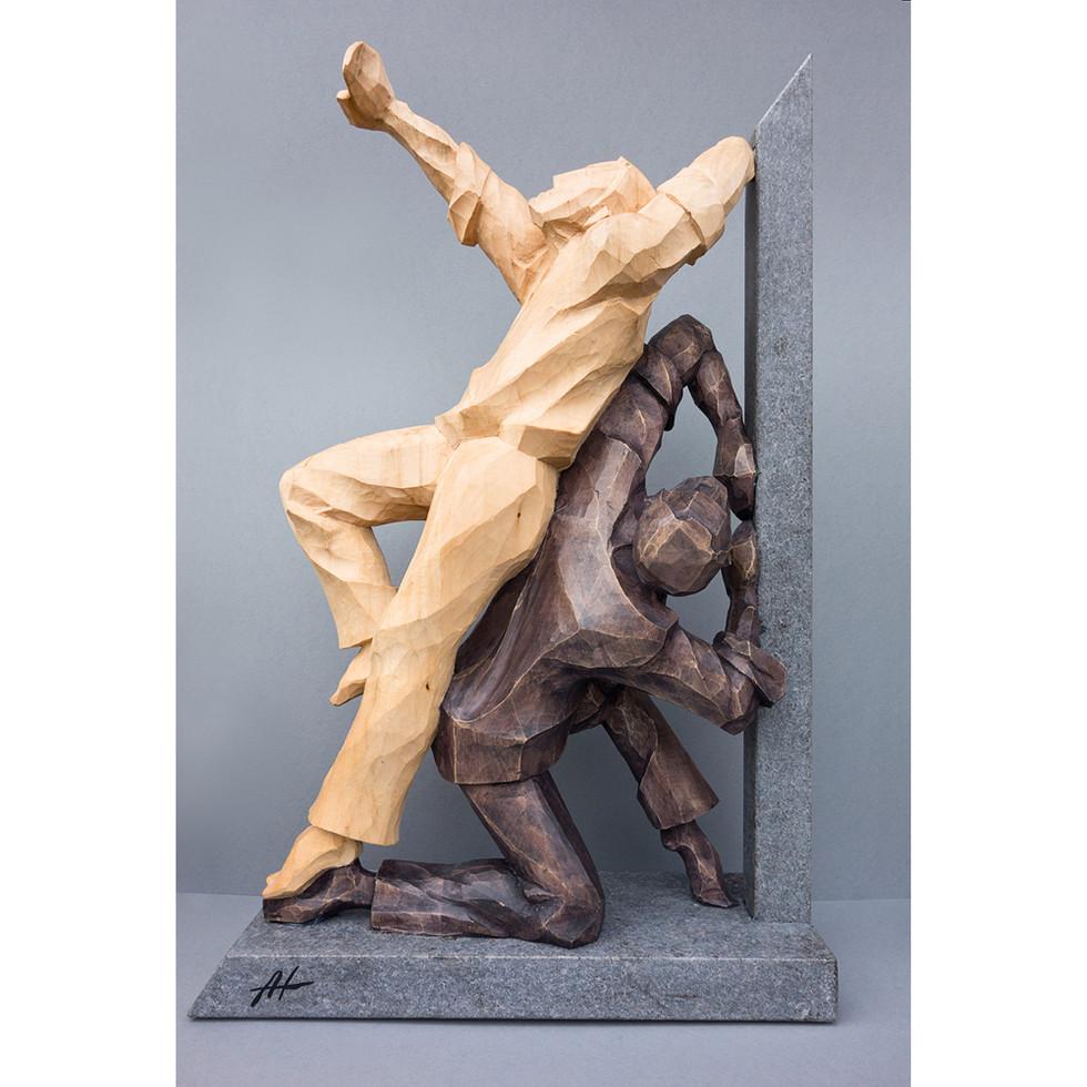 Lindenholz – Beize – Granit 52 x 30 cm