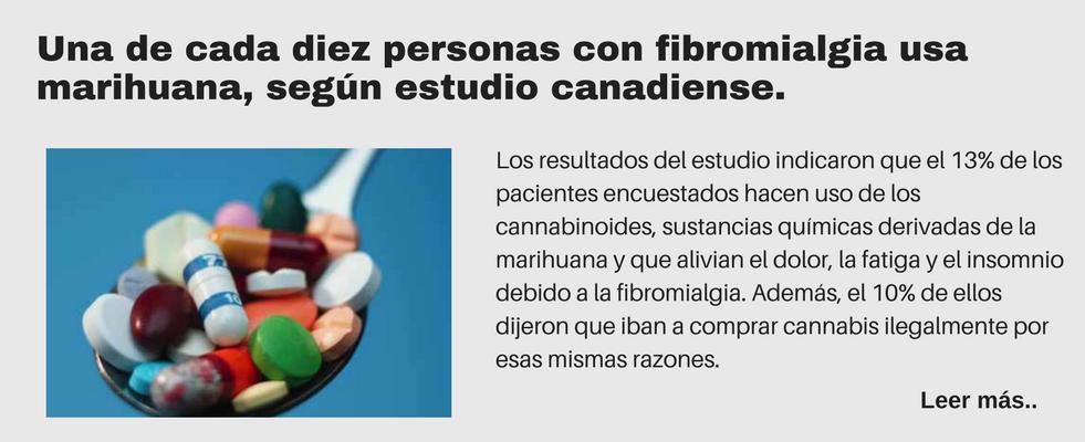 Una de cada diez personas con fibromialgia usa marihuana, según estudio canadiense