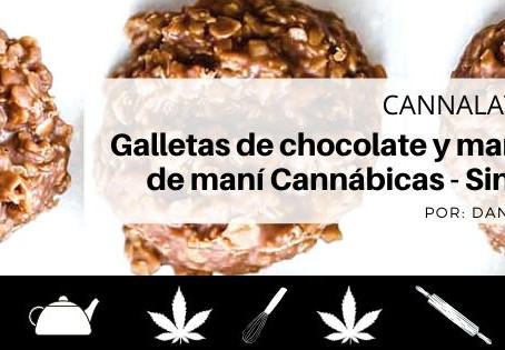 Galletas Cannábicas de chocolate y mantequilla de maní - Sin hornear