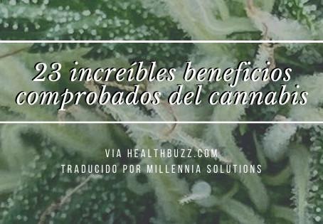 23 increíbles beneficios comprobados del cannabis.