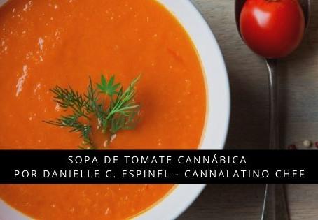 Sopa de tomate cannábica en Cannalatino
