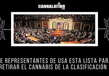 Cámara de Representantes de USA esta lista para votar y retirar el cannabis de la clasificación I