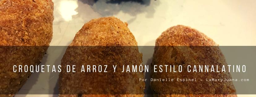Croquetas de arroz y jamón estilo Cannalatino