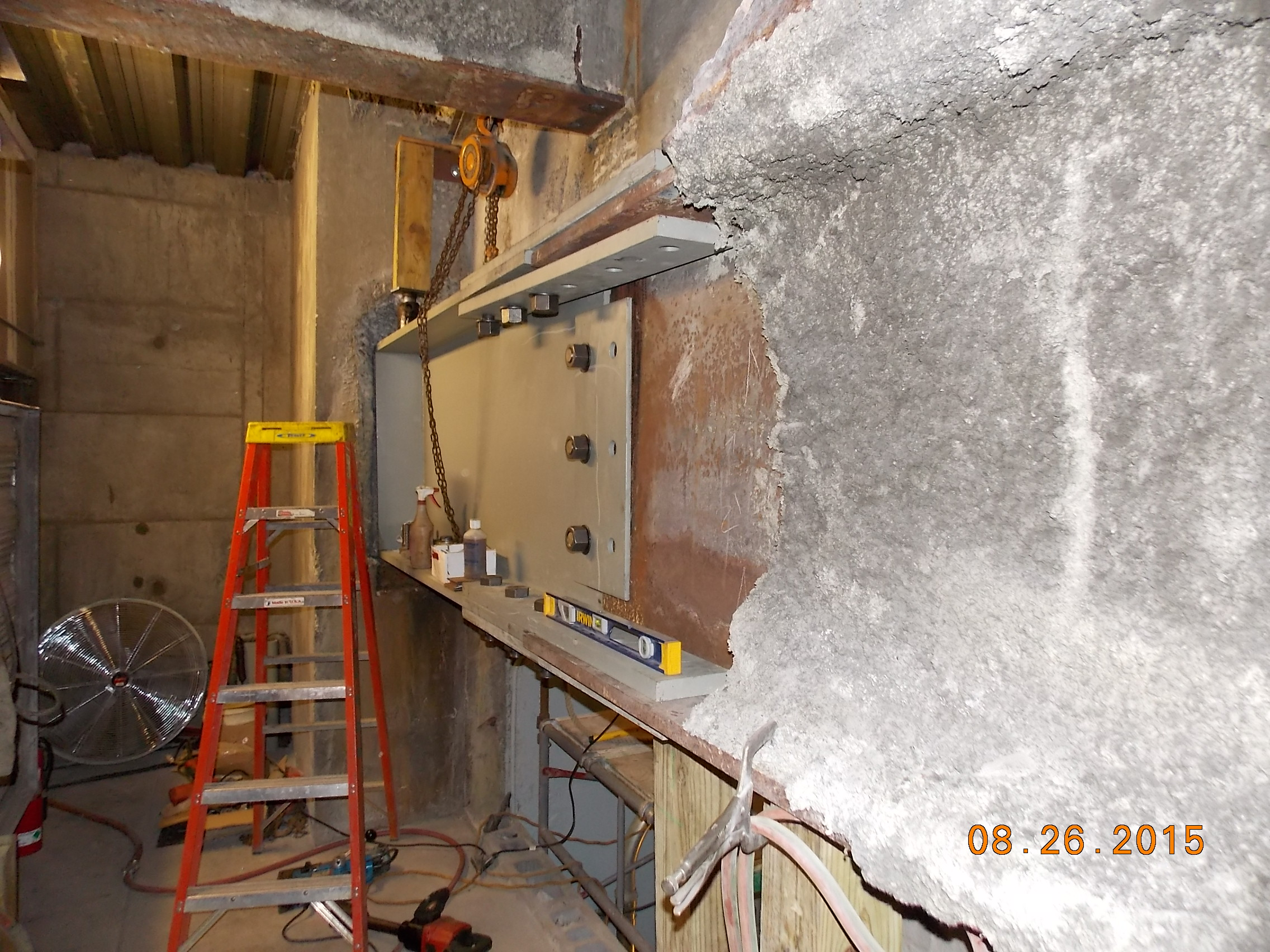 Corroded steel beam replacement