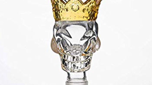 Crowned Skull Bowl Piece