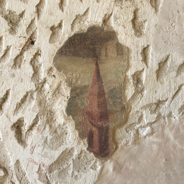 Frammento degli affreschi esterni