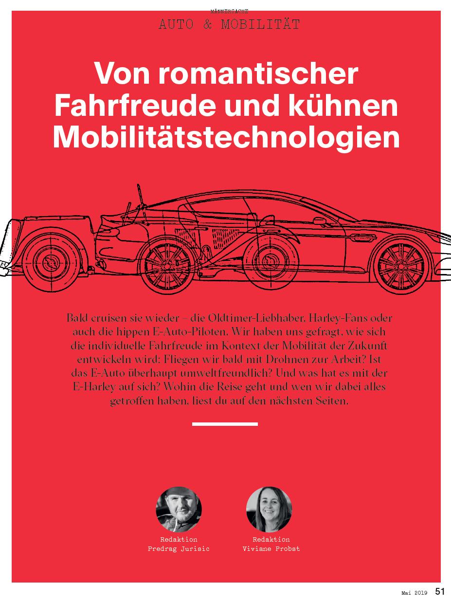 Idee, Konzept, Text und Redaktion für das Auto-Special in der Maiausgabe des Magazins «Mannschaft».