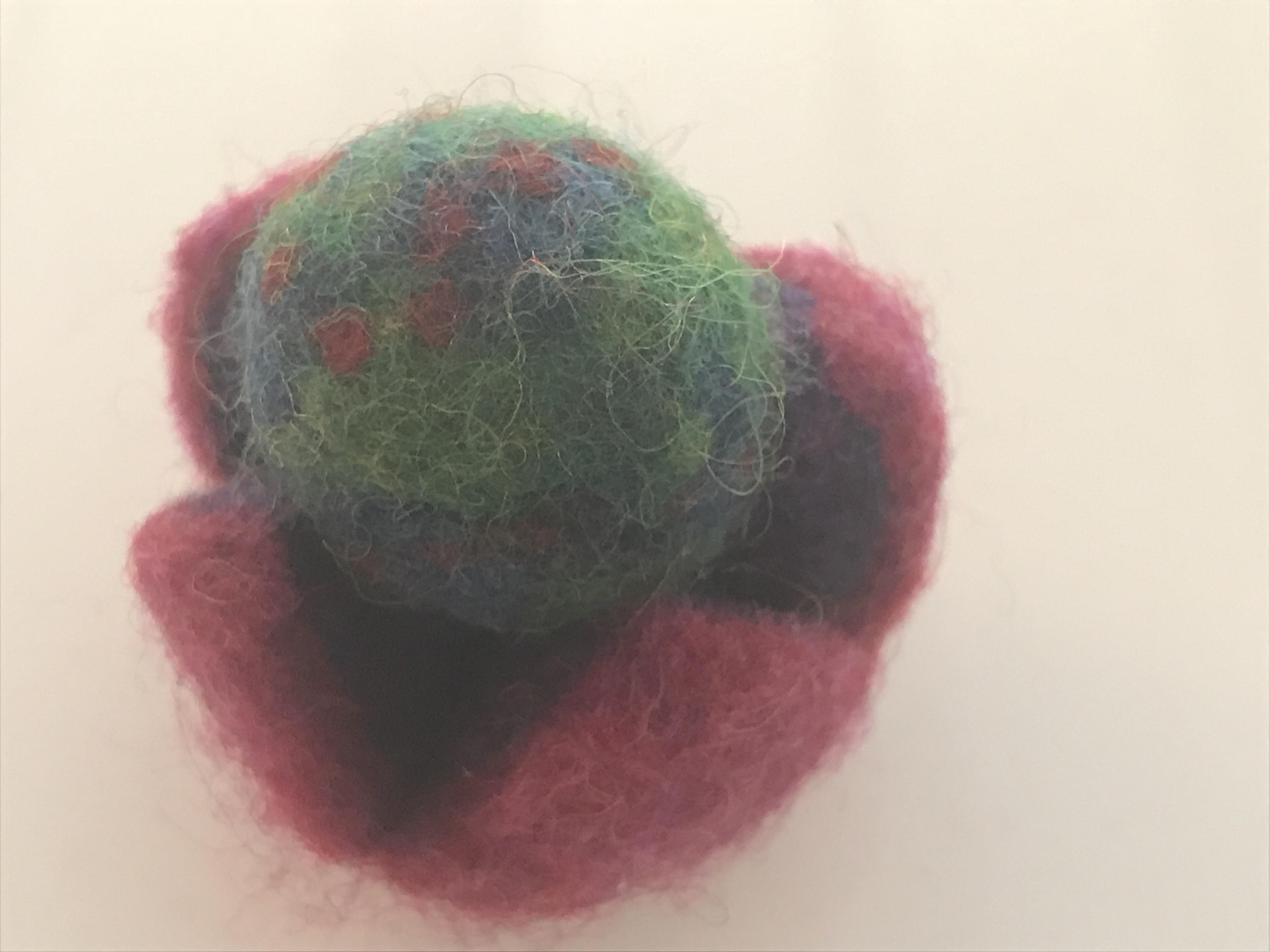 Felt Globe by Anna Benoliel SHA 8th grade (1)