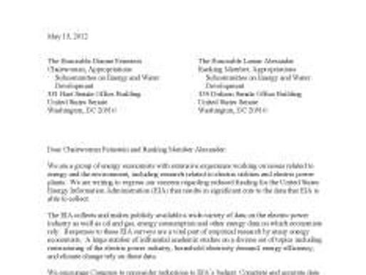 Rallying Around the U.S. Energy Information Administration