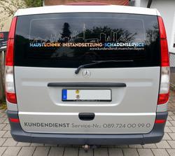 Dienstfahrzeug Handwerk Rückseite