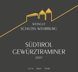 Schloss Wehrburg Weinetikett