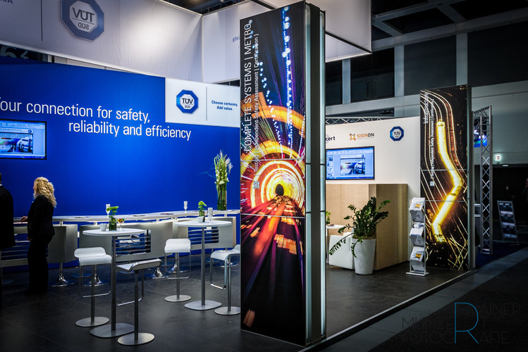 TÜV SÜD Rail Messestand InnoTrans