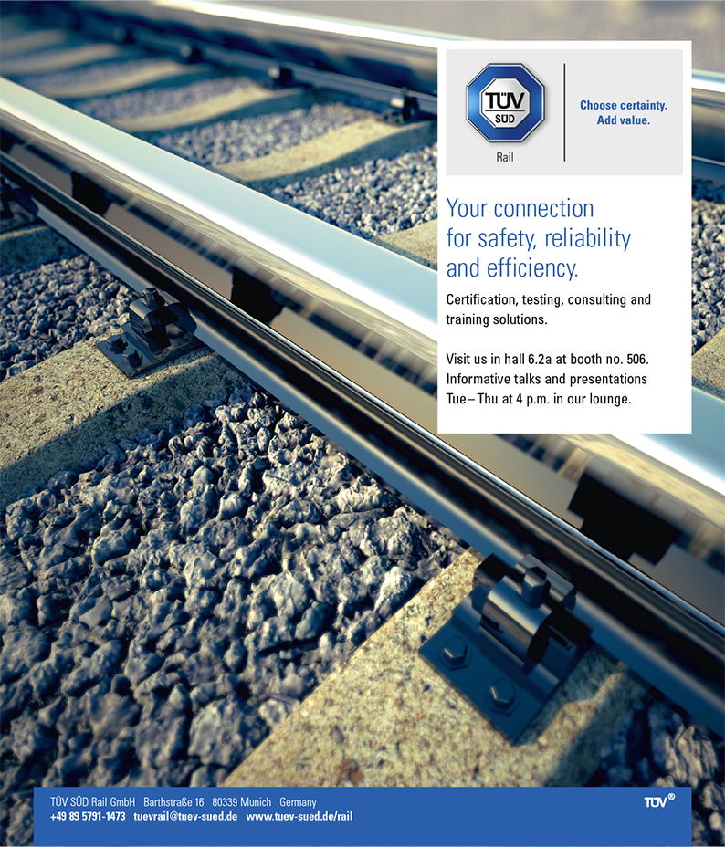 TÜV SÜD Rail Anzeige