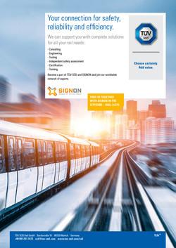 TÜV SÜD Rail - Anzeige Messekatalog