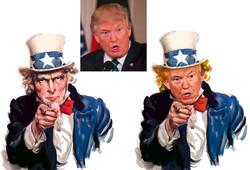 Collage Composing Retusche Uncle Trump