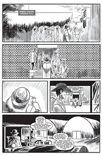 Lucky Luciano comic book series artwork